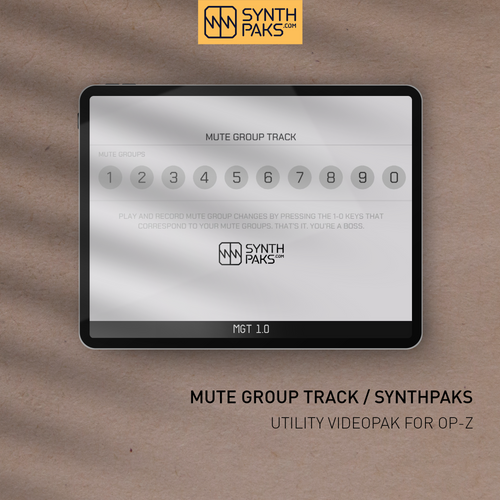 Mute Group Track - Custom OP-Z App Videopak - Synthpaks