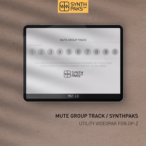Mute Group Track - Custom OP-Z App Videopak - Synthpaks | OP-Z | Teenage Engineering