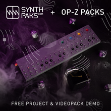 Load image into Gallery viewer, Atom & Eve Videopak Demo + Living Beats Project Demo (Free) - Synthpaks | OP-Z | Teenage Engineering