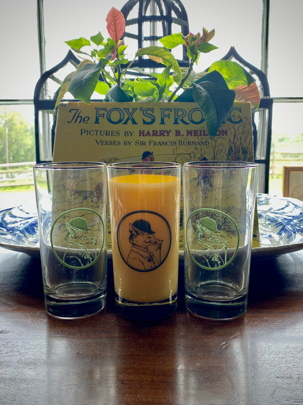 Fox's Frolic Highball Glasses (set of 4)