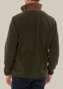 Aylsham Mens Fleece Jacket In Olive - Classic Fit