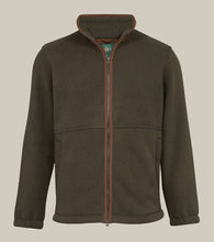 Load image into Gallery viewer, Aylsham Mens Fleece Jacket In Olive - Classic Fit