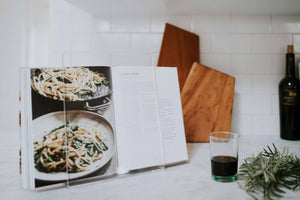 Sustainable Cookbook Holder Made from Recycled Materials