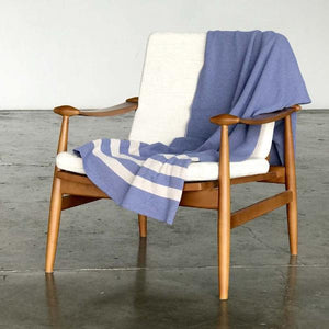 Throw Blanket Made with Recycled Cotton and Recycled Polyester