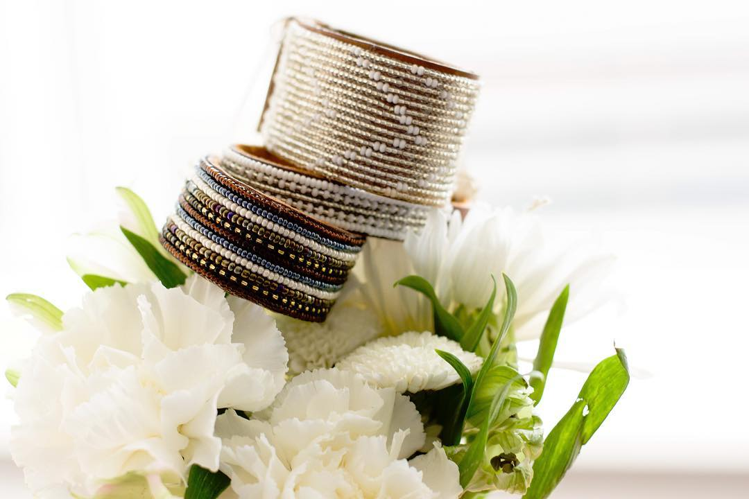 leather beaded cuff bracelet