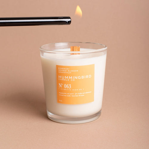 energizing coconut wax candle