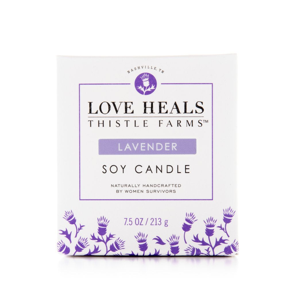 Vegan Soy Wax Candle: Lavender Scented Made in America