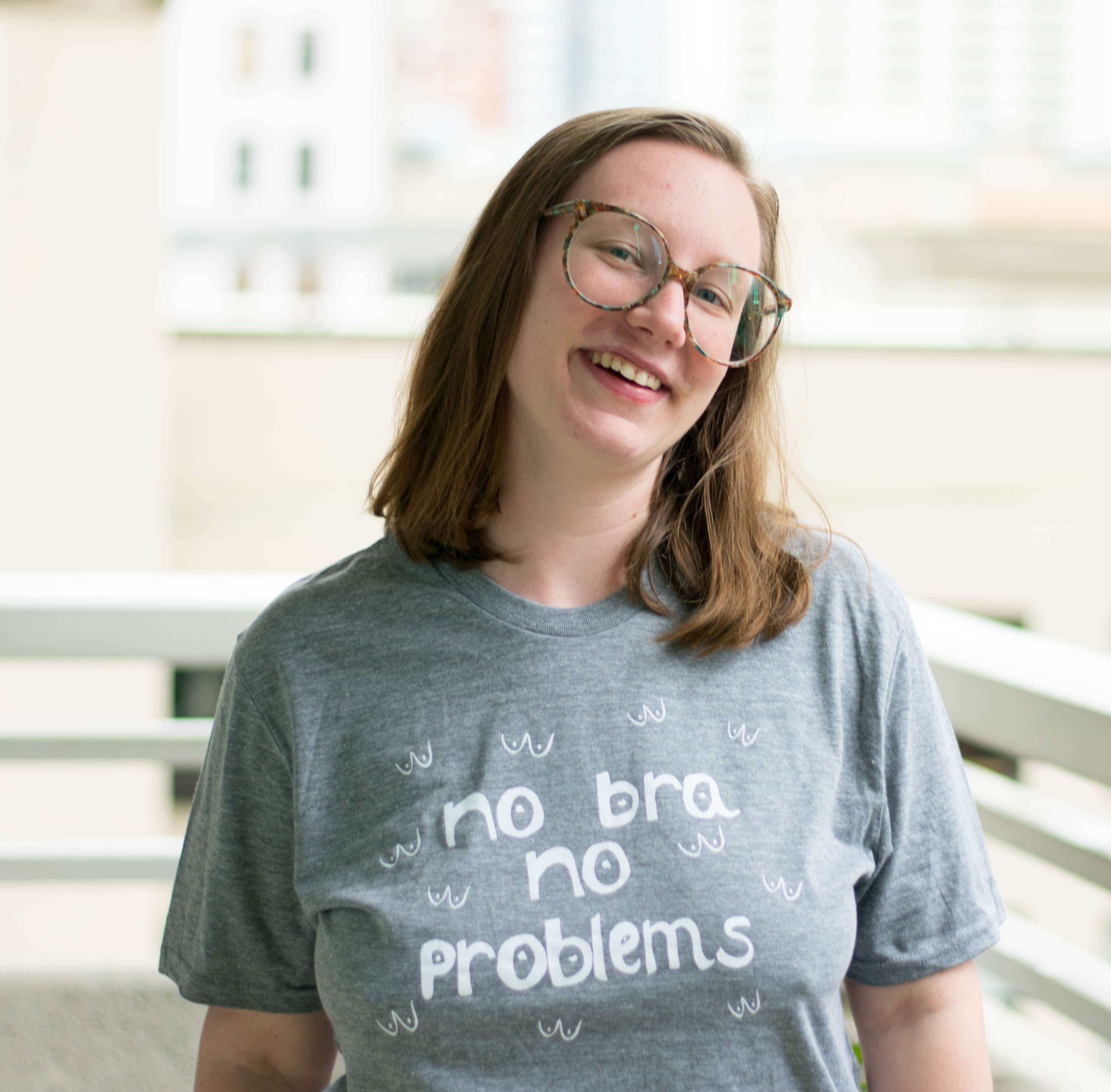 no bra no problems t-shirt