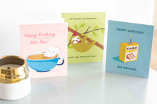 Load image into Gallery viewer, birthday cards made from recycled materials