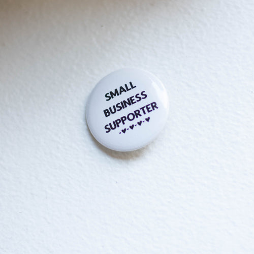 small business supporter pin