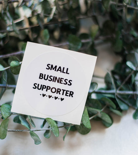 small business supporter sticker