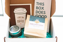Load image into Gallery viewer, gift box for coffee addicts