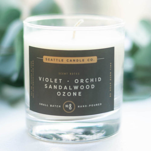 floral soy wax candle