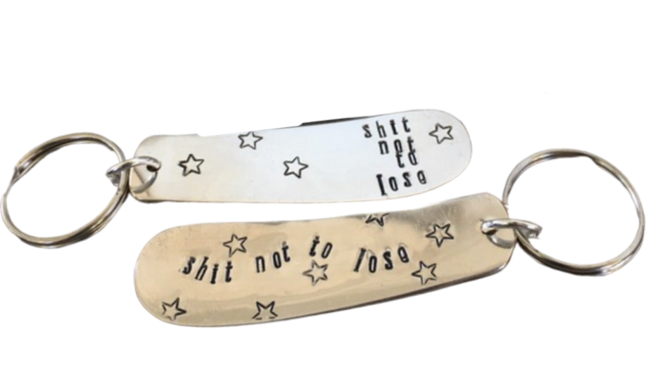 shit not to lose keychain