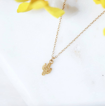 Load image into Gallery viewer, gold cactus necklace
