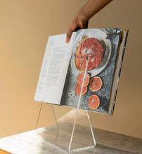 Load image into Gallery viewer, cookbook holder made from recycled materials