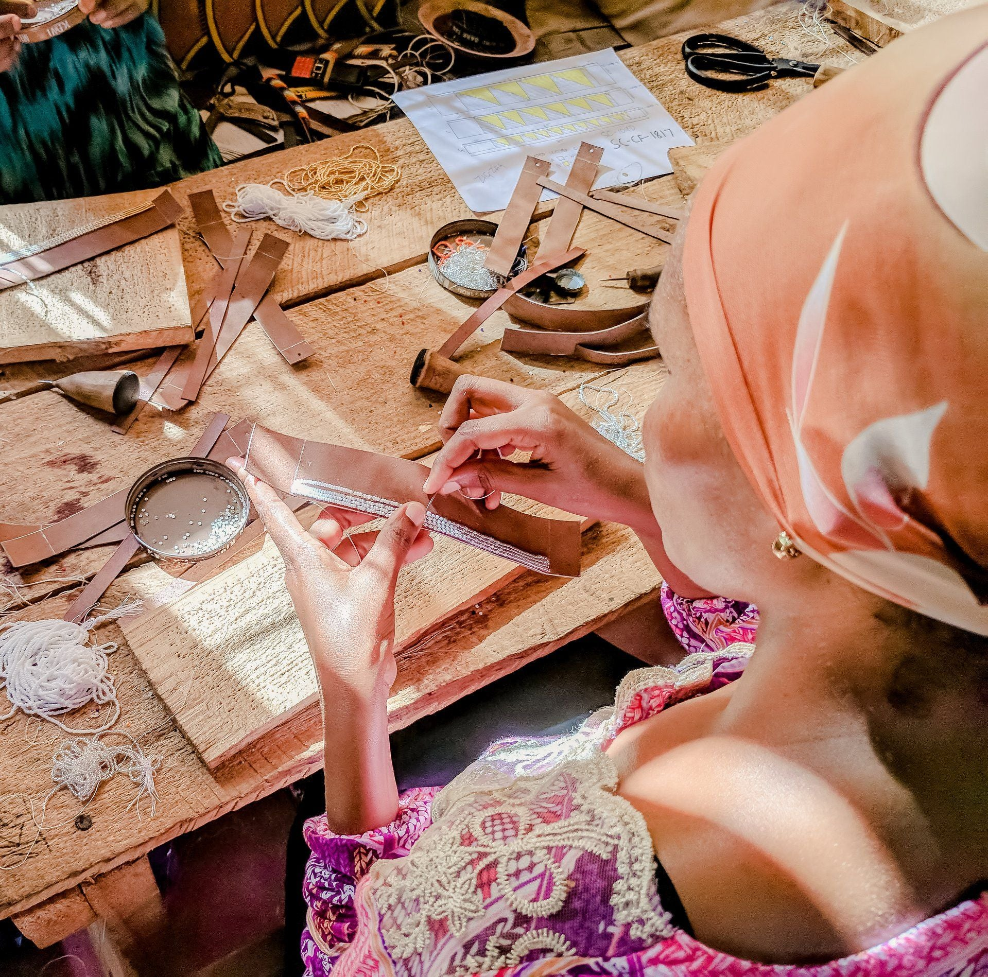 artisans making fair trade jewelry