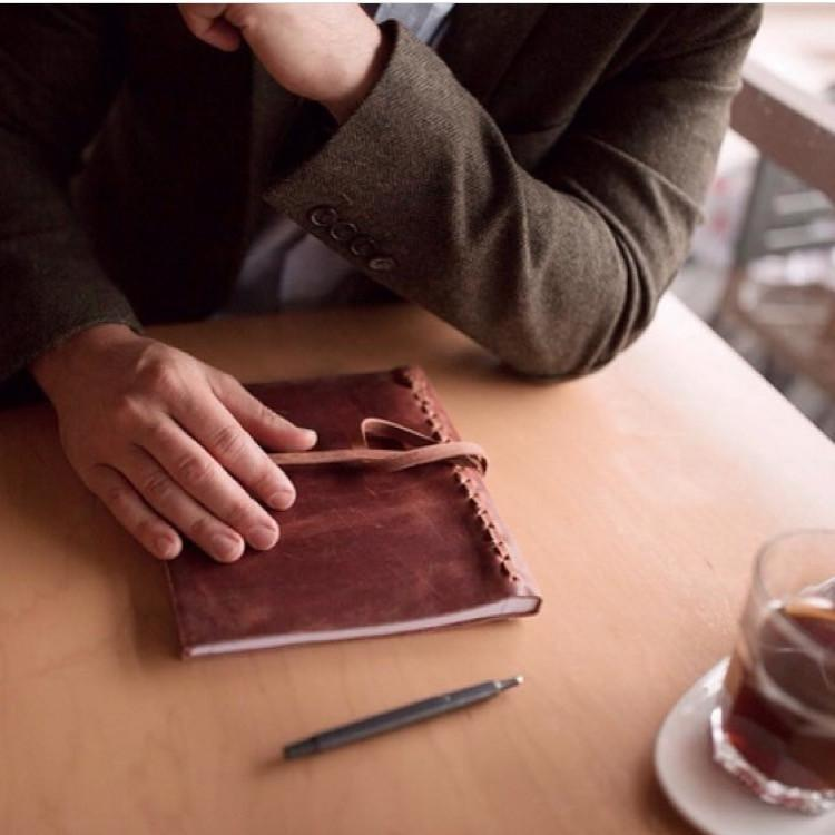 ethically made leather journal