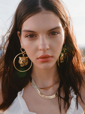 The Latifa Tiger Earrings