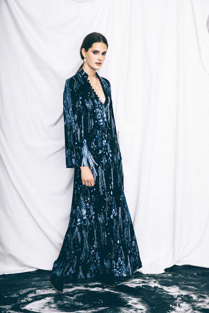 The Blue Crystals Bohemian Dress