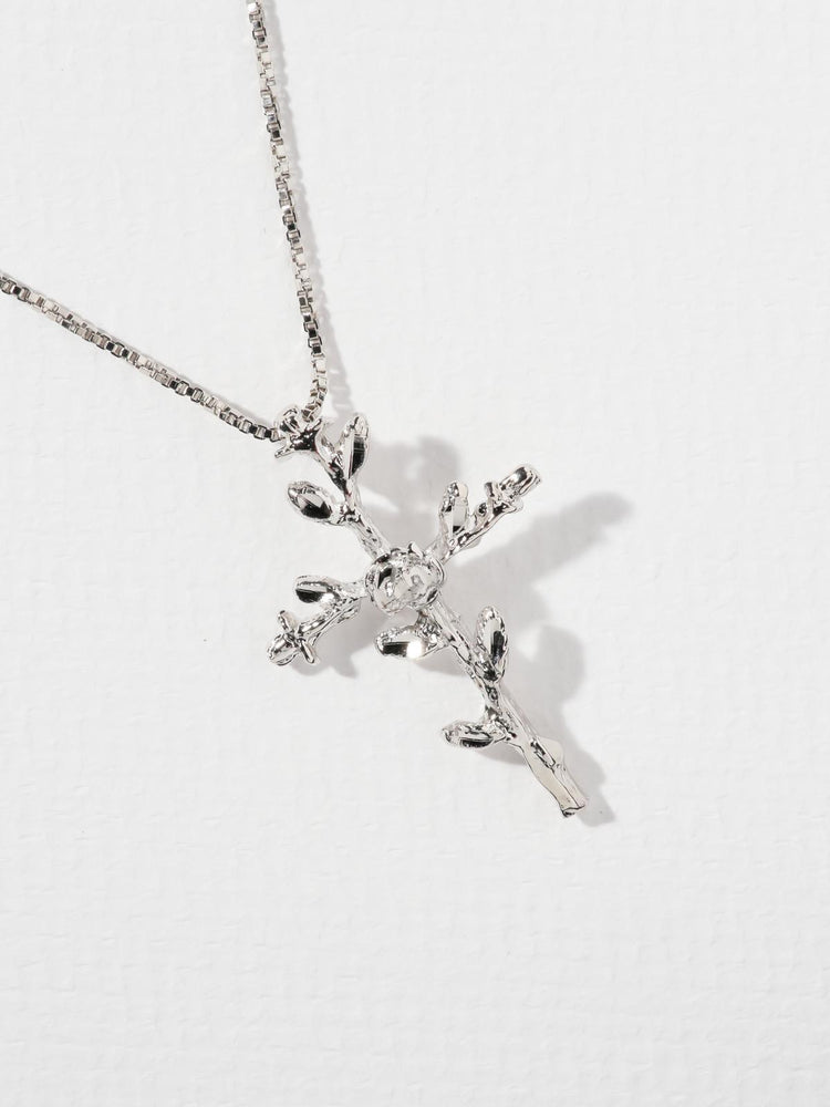THE EXALTED CROSS NECKLACE - SILVER