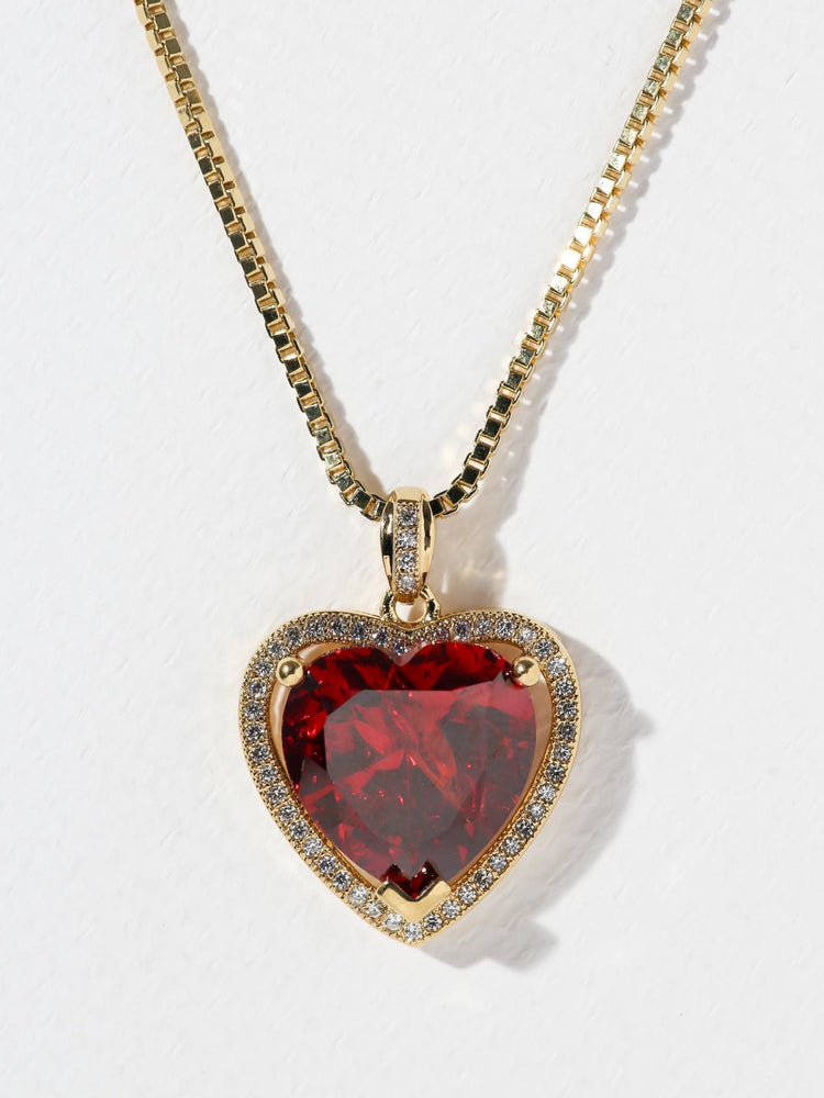 THE RUBY HEART NECKLACE