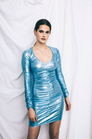 The Blue Party Dress