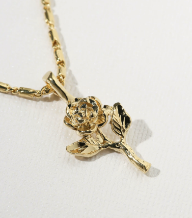 THE LITTLE ROSE CHARM NECKLACE