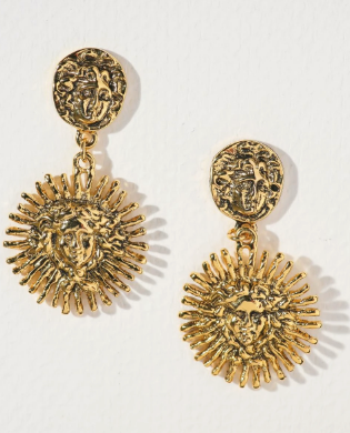 THE HARLOW MEDUSA EARRINGS