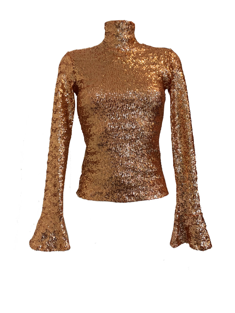 The Copper Sparkle Top
