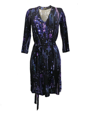 The Muse Dress in Blue Crystals