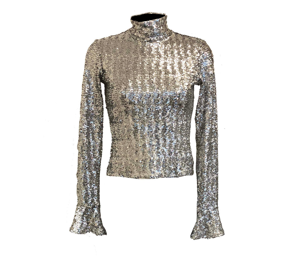 The Silver Sparkle Top