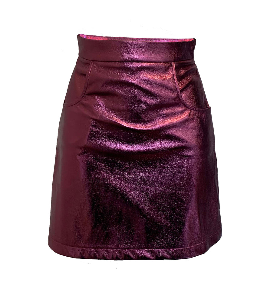 The Mini Skirt in Plum