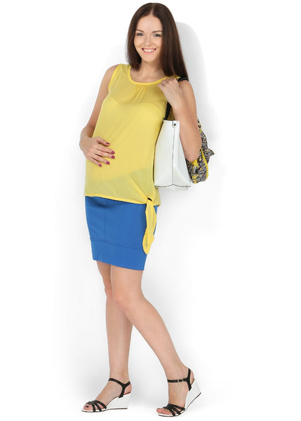 """Nikoletta"" Maternity cornflower skirt 2 in 1"