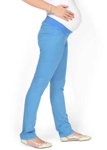 """Nereza"" Maternity blue pants 2 in 1"