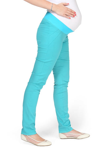 """Nereza"" Maternity turquoise pants 2 in 1"