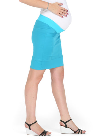 """Nikoletta"" Maternity turquoise skirt 2 in 1"