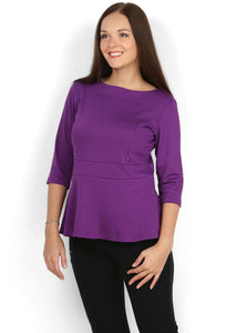 Blouse Stefi purple maternity and nursing
