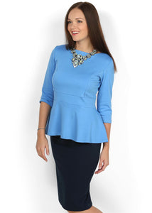 Blouse Stefi light blue maternity and nursing