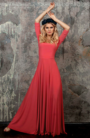 DSP-121-30 Dress length Maxi coral