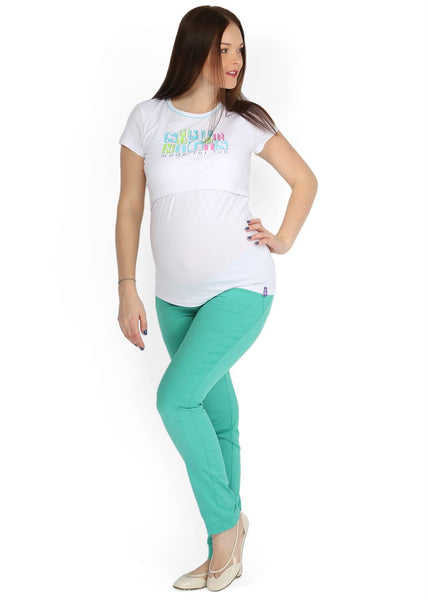 """Nereza"" Maternity green pants 2 in 1"