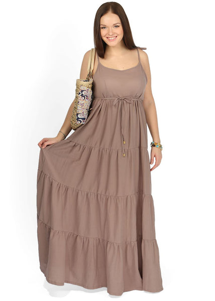 """Violla"" Maternity brown sundress"