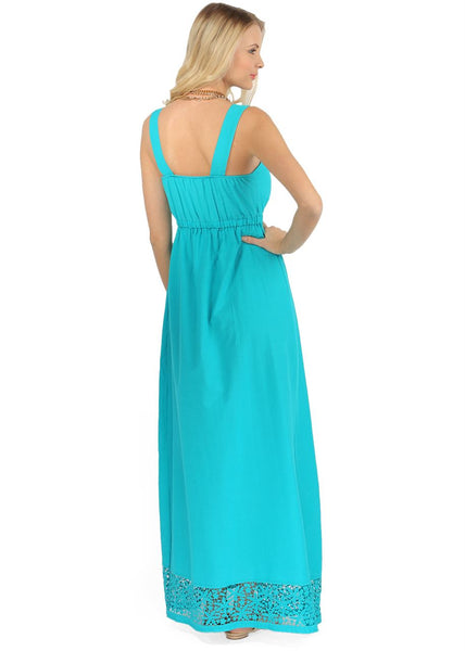 """Eva"" Maternity turquoise dress"