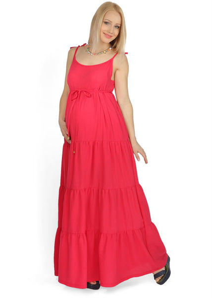"""Violla"" Maternity red sundress"
