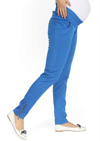 Ambra Maternity Trousers in cornflower