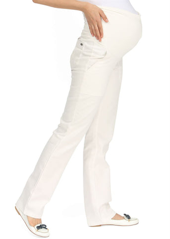 """Seily"" Maternity white pants"