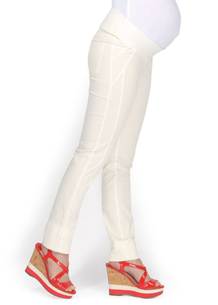 """Nereza"" Maternity white pants 2 in 1"