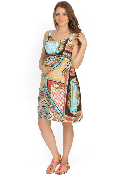 """Kaity"" Maternity dress with ornament"