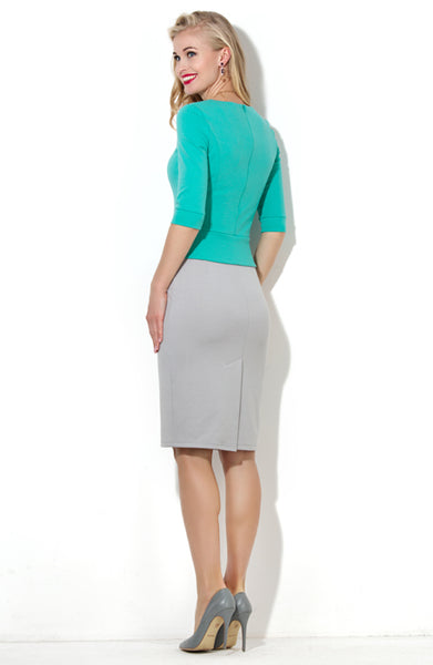 Dress DSP-51-88 case light grey/turquoise