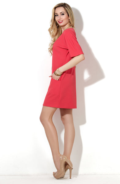 DSP-73-30 straight Dress coral